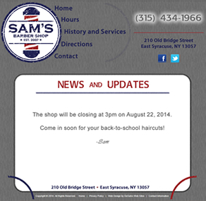 Sam's Barber Shop